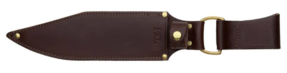 "Leather belt sheath for 10"" Clip Blade Bowie Knife"